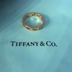 Tiffany& Co. 18K Rose Gold Diamond Pierced Atlas